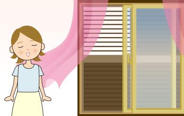 夏場に多いお部屋の風通し対策