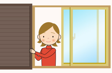 既に雨戸がある窓なら、パネルを交換するだけ